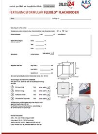Fertigungsformular Flachboden-Pelletsilo von ABS