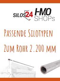 Passende Halterohre für Typ 2.200mm