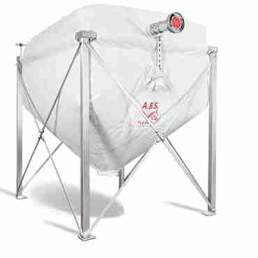 A.B.S.-Pelletsilo mit Stahlgestell für Raumhöhe 2,6 - 2,7 m