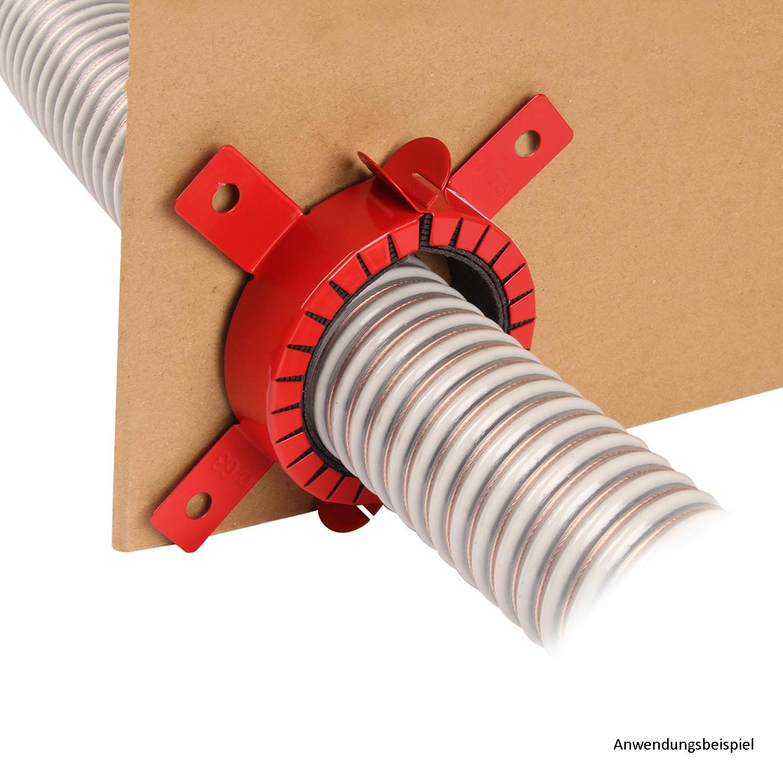 Brandschutzmanschette für Förderschlauch, 63 mm