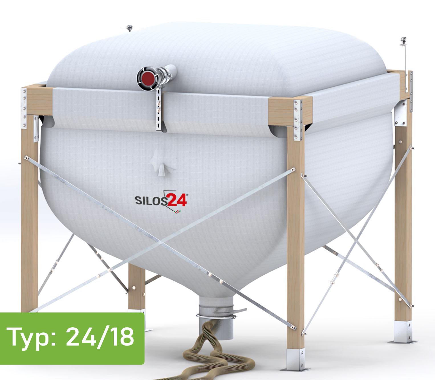 [Paket] Eco-Silo 2418 inkl. Absaugtopf, 50 m Schlauch NW 50/50 & Befestigungsschellen
