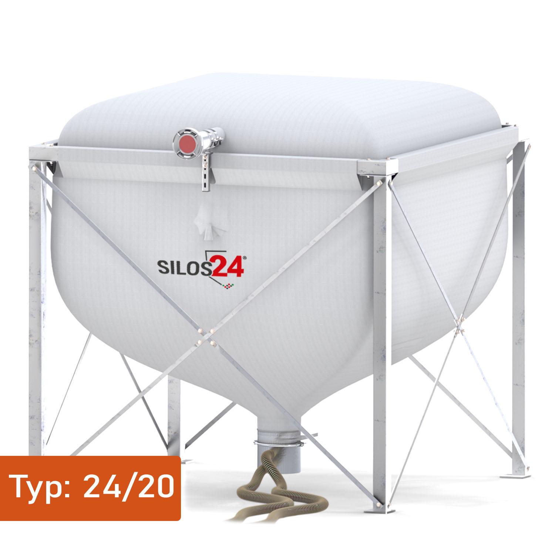 [Paket] Silo Standard 2420, 1 Absaugtopf, 20 m Schlauch