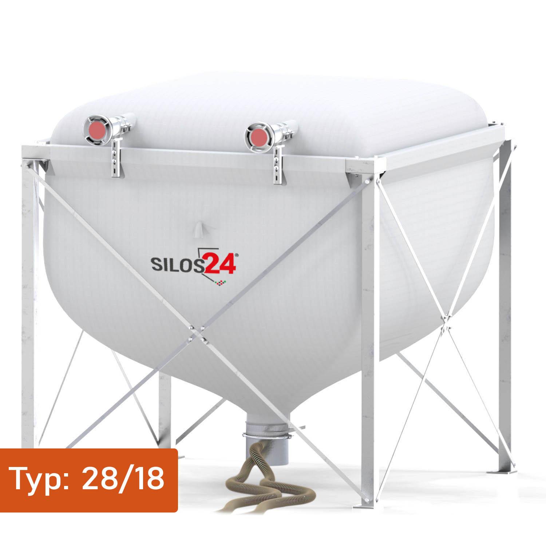 [Paket] Silo Standard 2818, 1 Absaugtopf, 20 m Schlauch
