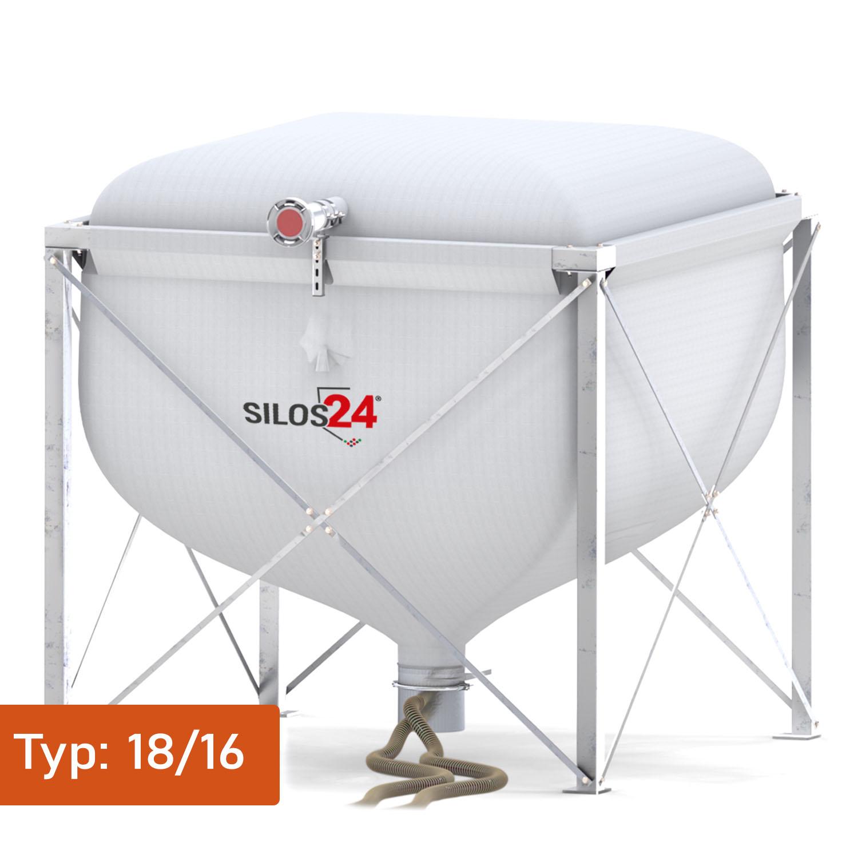 [Paket] Silo Standard 1816, 1 Absaugtopf, 20 m Schlauch